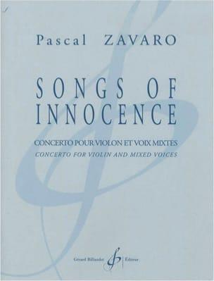 Songs Of Innocence Pascal Zavaro Partition Chœur - laflutedepan