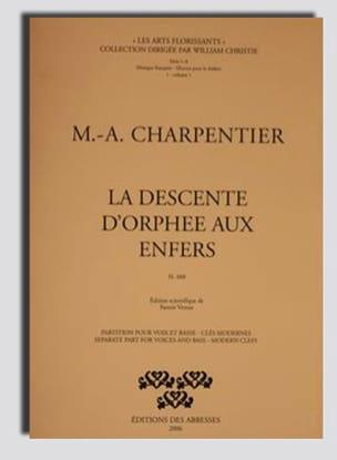 La Descente d'Orphée Aux Enfers CHARPENTIER Partition laflutedepan