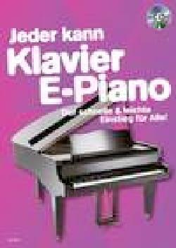 Jeder kann klavier e-piano + CD Partition Piano - laflutedepan