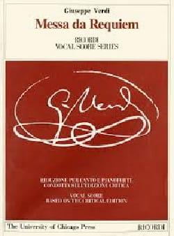 VERDI - Requiem. Edizione critica - Partition - di-arezzo.it