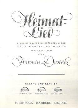 Heimat-Lied op. 95. Voix Haute - DVORAK - Partition - laflutedepan.com