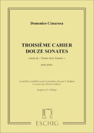 32 Sonates Volume 3 - CIMAROSA - Partition - Piano - laflutedepan.com
