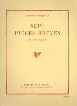 7 Pièces Brèves HONEGGER Partition Piano - laflutedepan