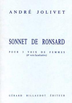 Sonnet de Ronsard - André Jolivet - Partition - laflutedepan.com