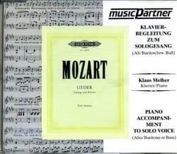 Lieder Alto-Baryton CD - MOZART - Partition - laflutedepan.com