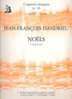 Noëls Livre 3 DANDRIEU Partition Orgue - laflutedepan