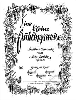 Eine Kleine Frühlingsweise - Opus 101-7 - DVORAK - laflutedepan.com