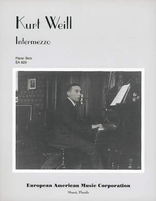 Intermezzo WEILL Partition Piano - laflutedepan
