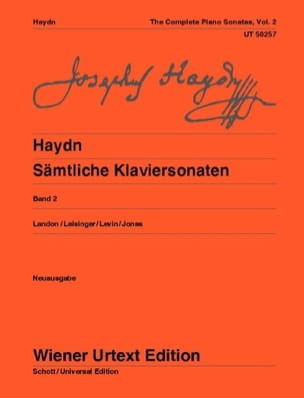 Sonates Pour Piano Volume 2. HAYDN Partition Piano - laflutedepan