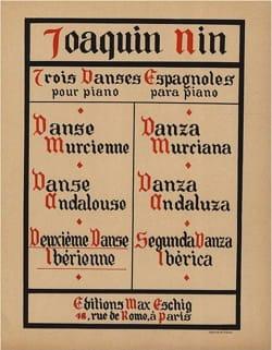 Danse Iberienne Joaquin Nin-Culmell Partition Piano - laflutedepan
