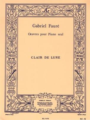 Clair De Lune op. 46-2 FAURÉ Partition Piano - laflutedepan