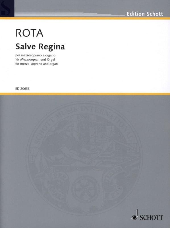 Salve Regina - ROTA - Partition - Mélodies - laflutedepan.com