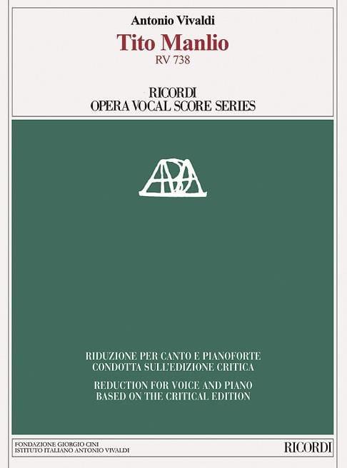 Tito Manlio Rv 738. Edition critique - VIVALDI - laflutedepan.com