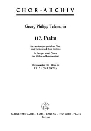 Psaume 117. Laudate Jehovam TELEMANN Partition Chœur - laflutedepan