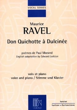Don Quichotte A Dulcinée RAVEL Partition Mélodies - laflutedepan