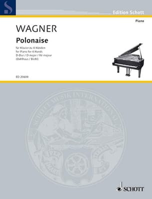 Polonaise. 4 Mains WAGNER Partition Piano - laflutedepan