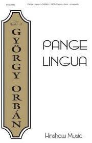 Pange lingua György Orban Partition Chœur - laflutedepan