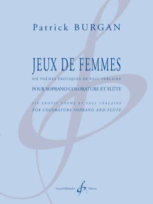 Jeux de Femmes Patrick Burgan Partition laflutedepan