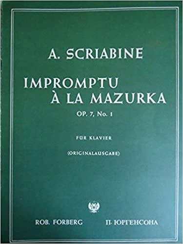 Impromptu A la Mazurka Op. 7-2 - SCRIABINE - laflutedepan.com