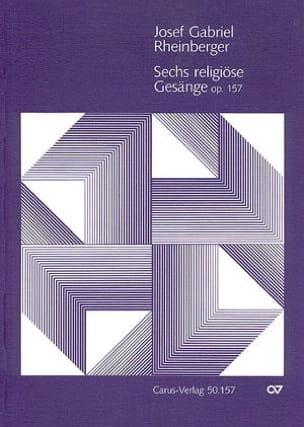 6 Religiöse Gesänge Opus 157 RHEINBERGER Partition laflutedepan