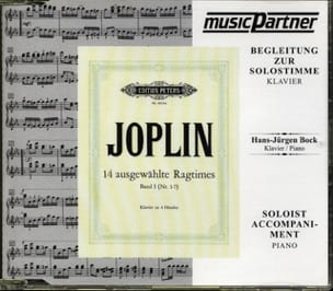 14 Ragtimes Choisis. 4 Mains. CD JOPLIN Partition Piano - laflutedepan
