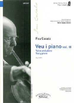 Voz y piano. Volume 3 Pablo Casals Partition Mélodies - laflutedepan
