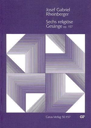 6 Religiöse Gesänge Opus 157 - RHEINBERGER - laflutedepan.com