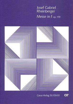 Missa In Fa Mineur Opus 159 RHEINBERGER Partition Chœur - laflutedepan