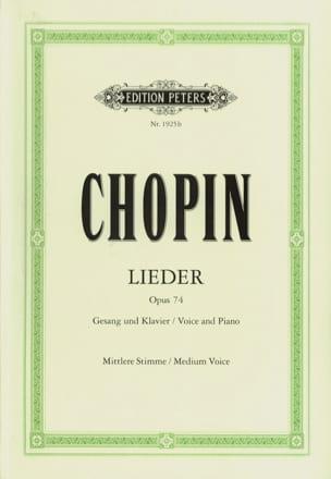 Lieder Opus 74 - Voix moyenne CHOPIN Partition laflutedepan
