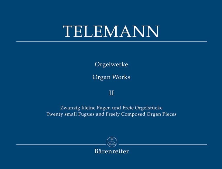 Oeuvre D'orgue Volume 2 - TELEMANN - Partition - laflutedepan.com