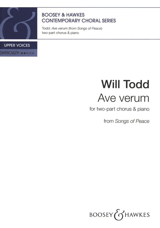 Ave Verum - Will Todd - Partition - Chœur - laflutedepan.com