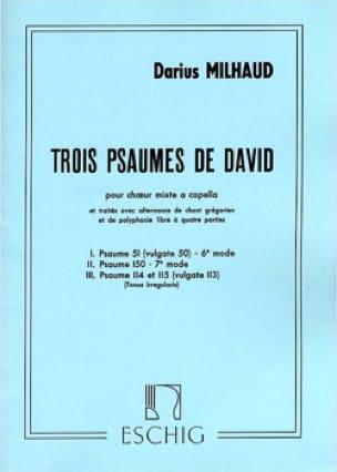 3 Psaumes de David - MILHAUD - Partition - Chœur - laflutedepan.com