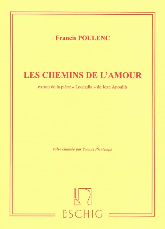 Les Chemins de l'Amour - POULENC - Partition - laflutedepan.com