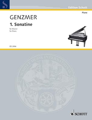 Sonatine N°1 1940 Harald Genzmer Partition Piano - laflutedepan