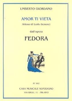 Amor Ti Vieta Di Non Amar. Fedora Umberto Giordano laflutedepan