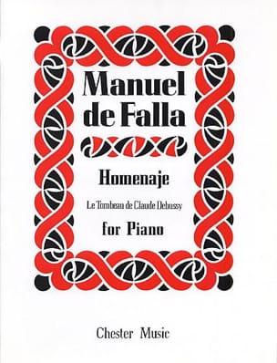 Homenaje DE FALLA Partition Piano - laflutedepan