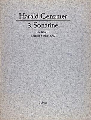 Sonatine N°3 1959 Harald Genzmer Partition Piano - laflutedepan