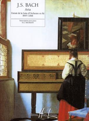 Aria de la Suite en Ré Majeur BACH Partition Piano - laflutedepan