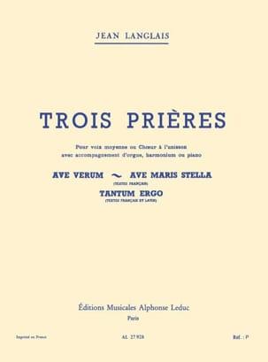 3 Prières Jean Langlais Partition Mélodies - laflutedepan