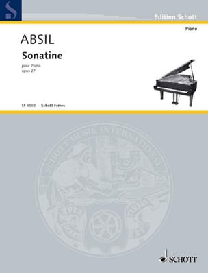 Sonatine, Humoresque et Toccata Op. 27 Jean Absil laflutedepan