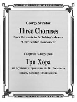 3 Choeurs russes pour la tragédie de Tolstoi - laflutedepan.com