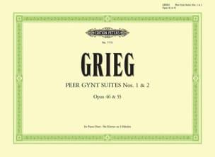 Peer Gynt Suites Opus 46 et 55. 4 Mains GRIEG Partition laflutedepan