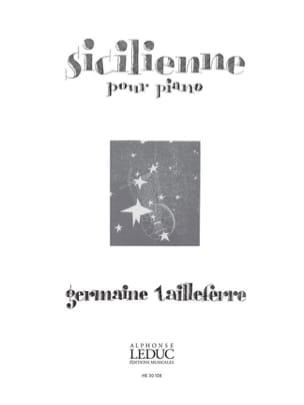 Germaine Tailleferre - Sicilian - Partition - di-arezzo.co.uk