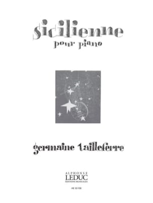 Sicilienne Germaine Tailleferre Partition Piano - laflutedepan