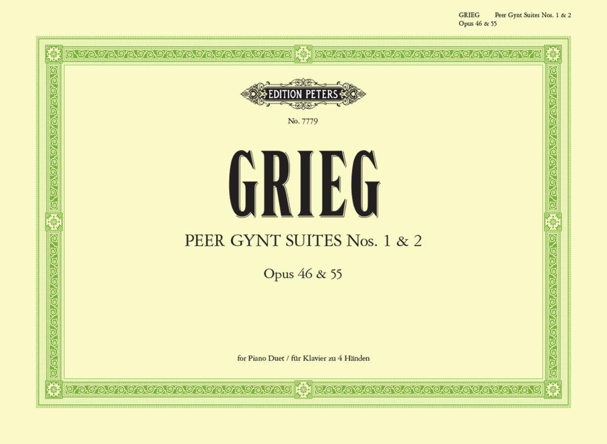 Peer Gynt Suites Opus 46 et 55. 4 Mains - GRIEG - laflutedepan.com