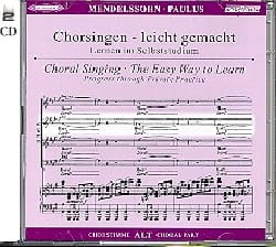 Paulus Opus 36. 2 CD Alto MENDELSSOHN Partition Chœur - laflutedepan