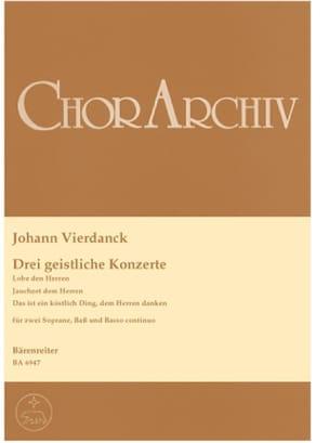 3 Geistliche Konzerte Johann Vierdanck Partition laflutedepan