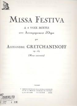 Missa Festiva Opus 154 - Alexander Gretchaninov - laflutedepan.com