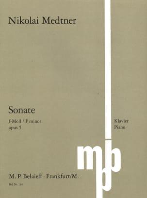 Sonate Opus 5 Nicolai Medtner Partition Piano - laflutedepan
