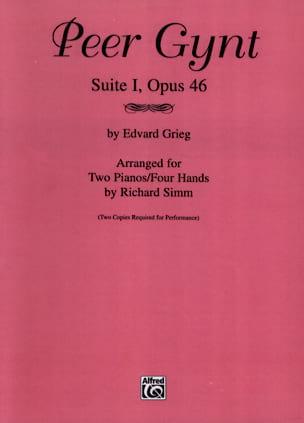 Peer Gynt Suite 1 Opus 46. 2 Pianos GRIEG Partition laflutedepan